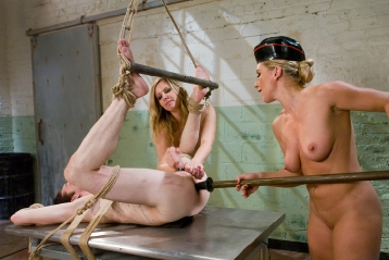 Submissive Slut Boy Dominated By Two Blondes